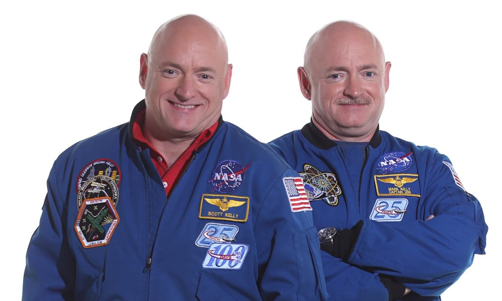 Nasa's twin astronauts Scott and Mark Kelly.